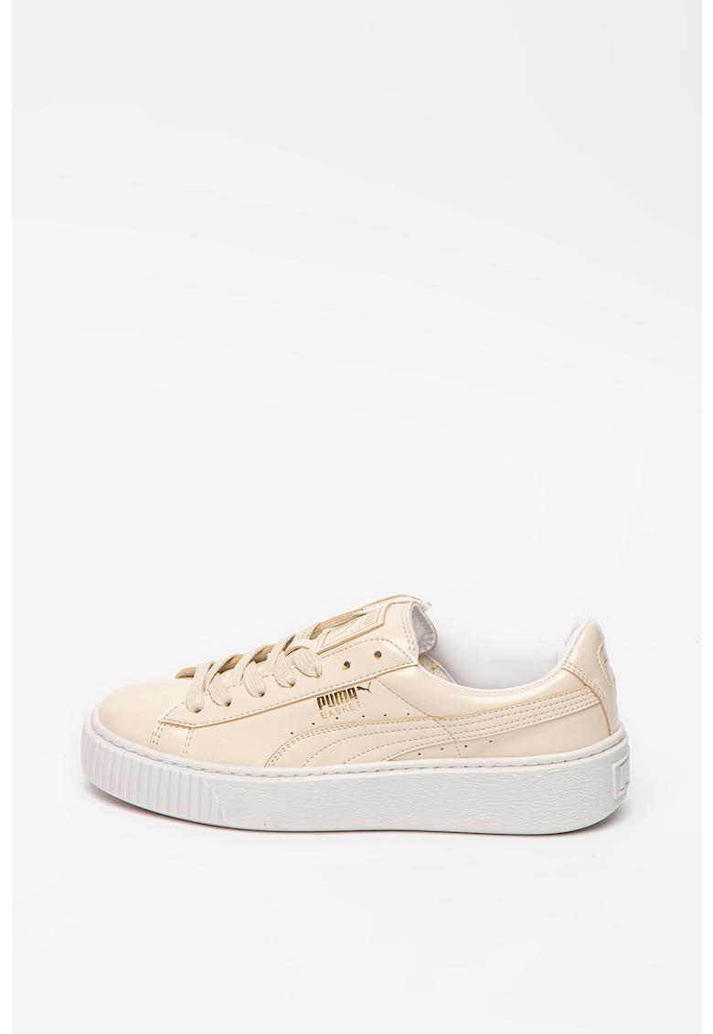 Pantofi sport cu aspect lacuit