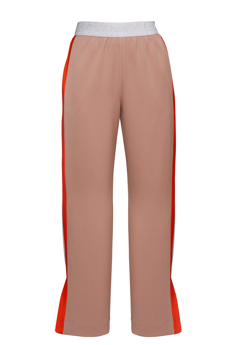 Pantaloni cu benzi laterale contrastante