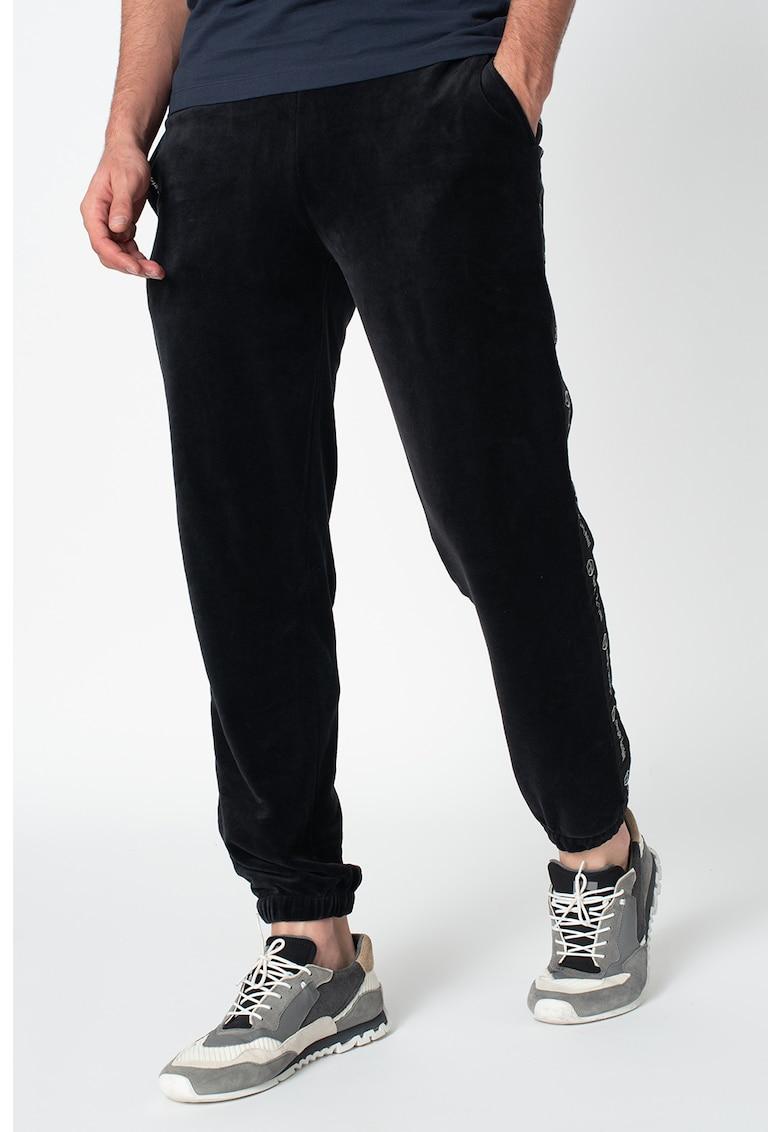 Pantaloni sport conici cu benzi laterale cu imprimeu logo Original imagine