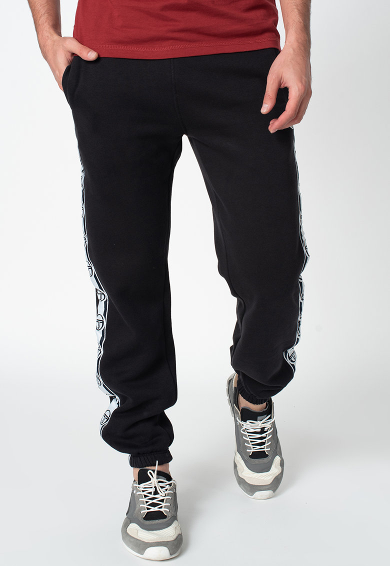 Pantaloni sport cu banda cu logo in lateral Dekle