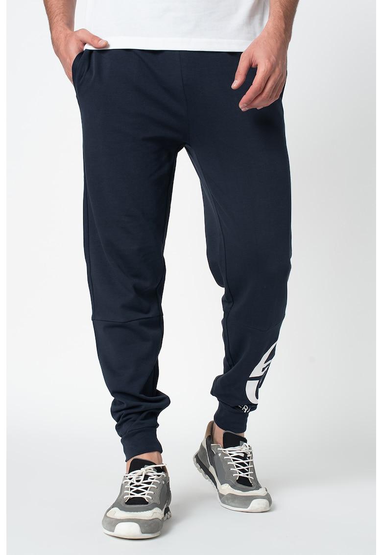 Pantaloni sport conici cu logo Chalmers imagine