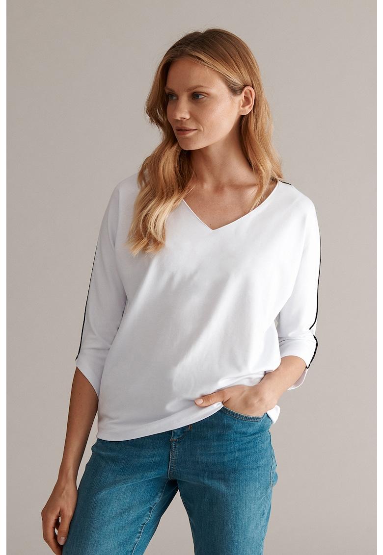 Bluza cu detaliu contrastant Motolika