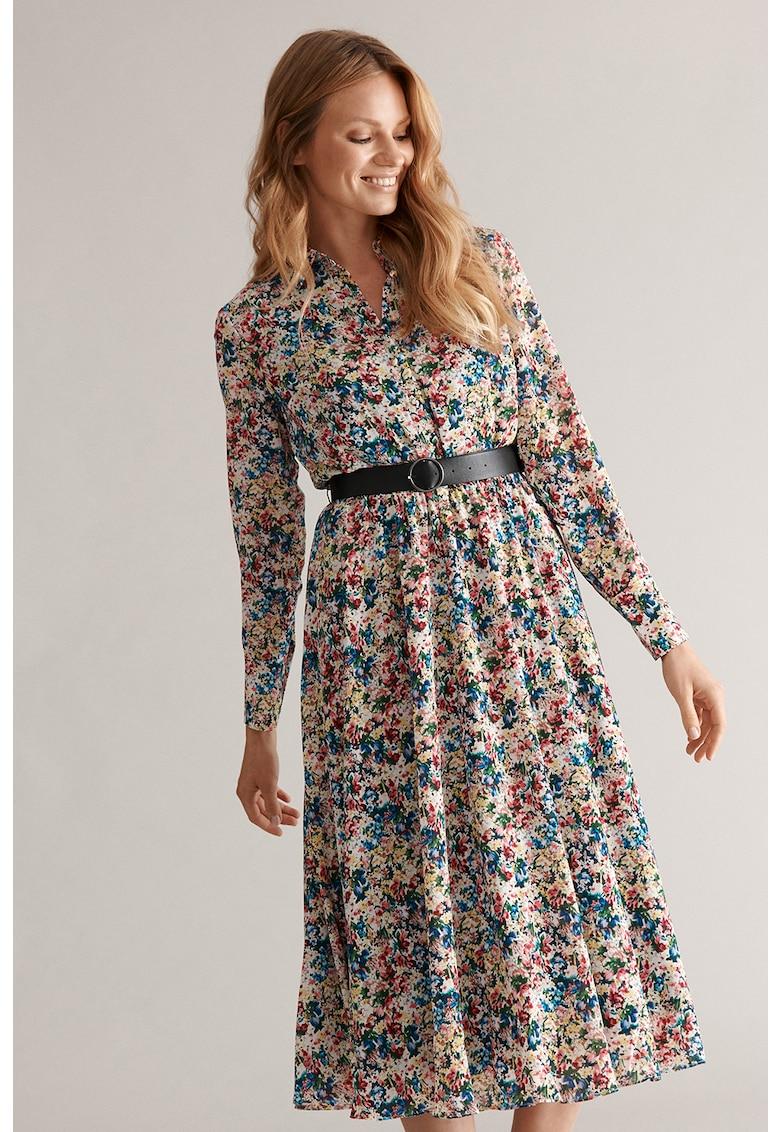 Rochie tip camasa cu model floral Margo