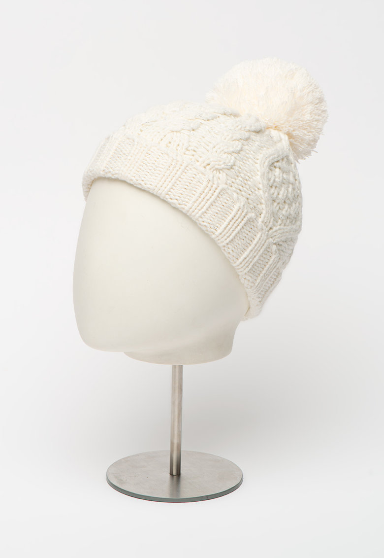 Caciula tricotata cu ciucure imagine
