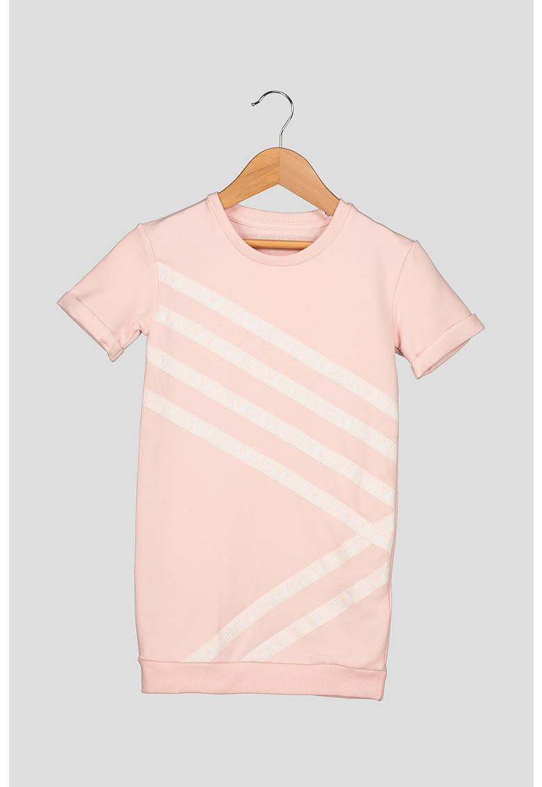Rochie tip tricou cu banda logo GUESS-JEANS