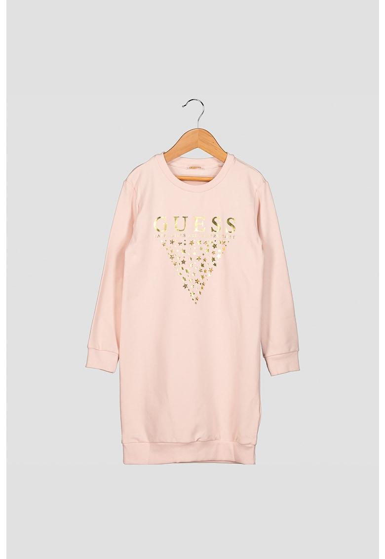 Rochie tip bluza sport cu tinte in forma de stea GUESS-JEANS