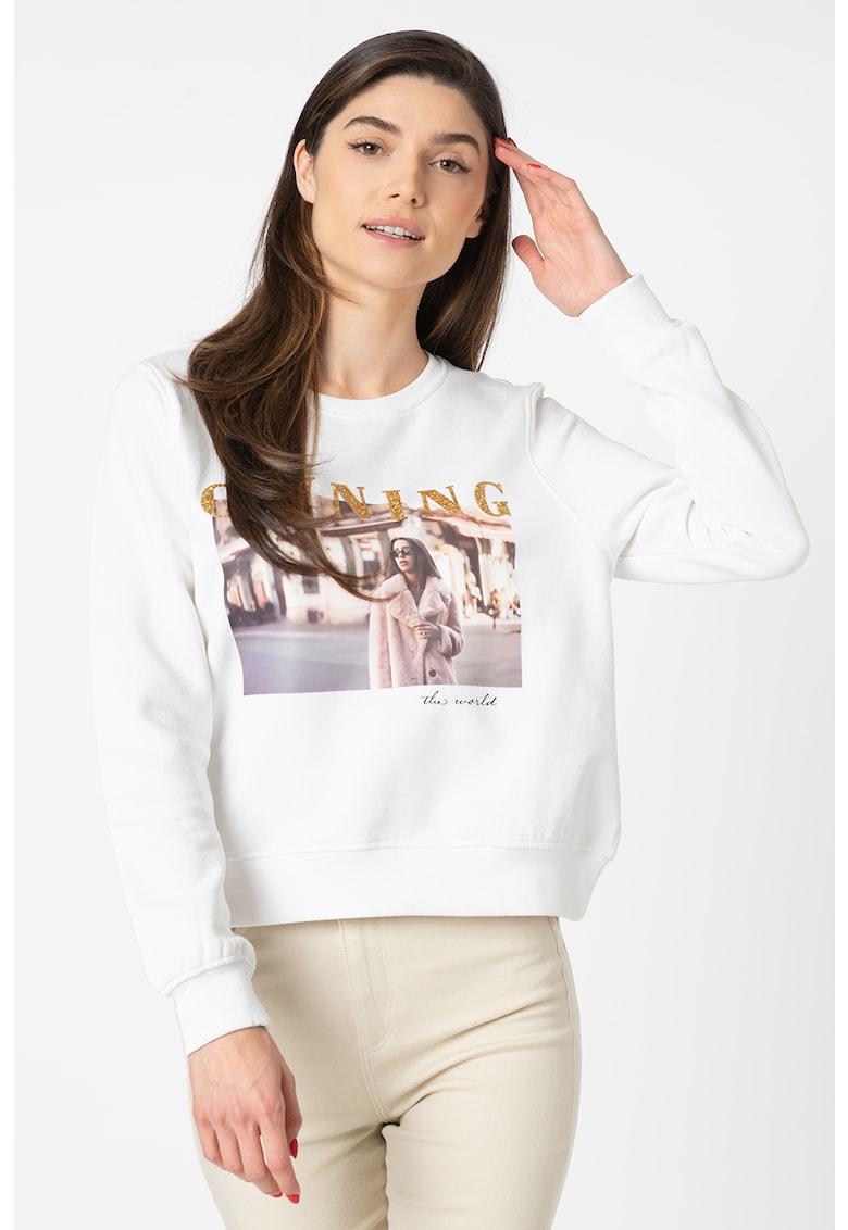 Bluza sport regular fit din amestec de bumbac organic Bloom
