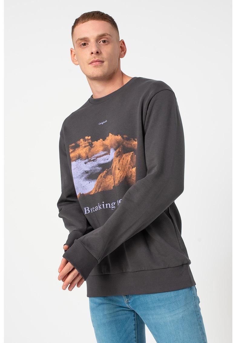 Bluza sport cu imprimeu grafic si logo Explore imagine