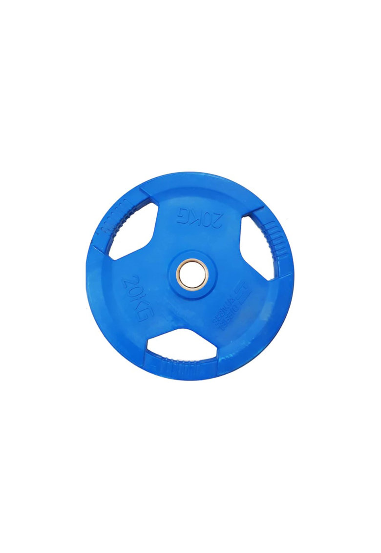 Gantera fitness coating cauciuc - 20 kg - Negru