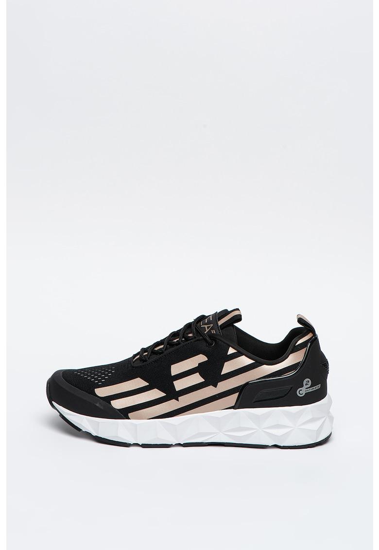 Pantofi sport cu imprimeu logo si design fatetat