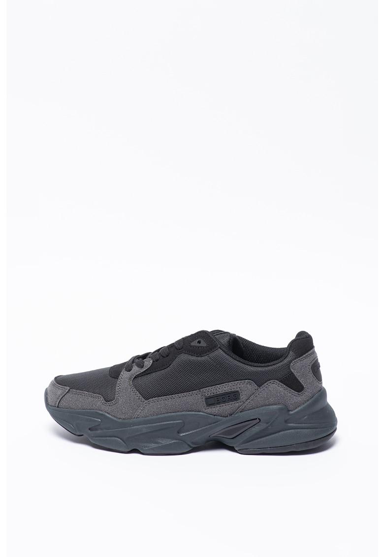 Pantofi sport din piele intoarsa ecologica si plasa X400