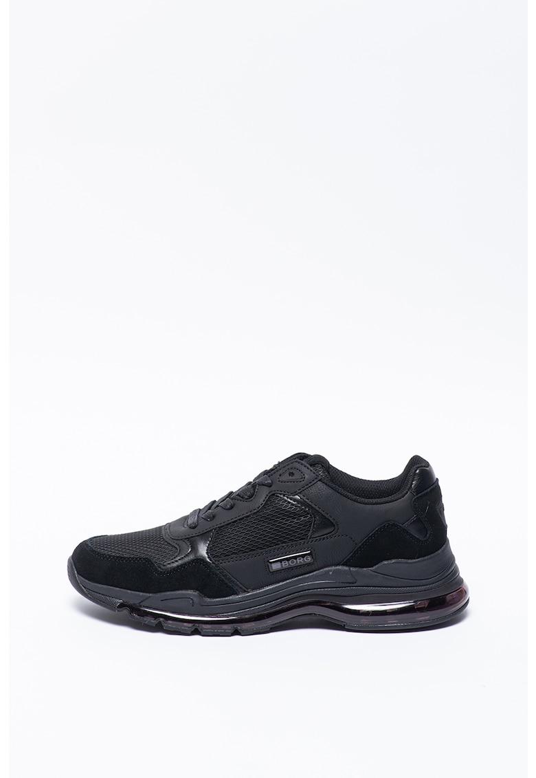 Pantofi sport cu garnituri din piele intoarsa X510