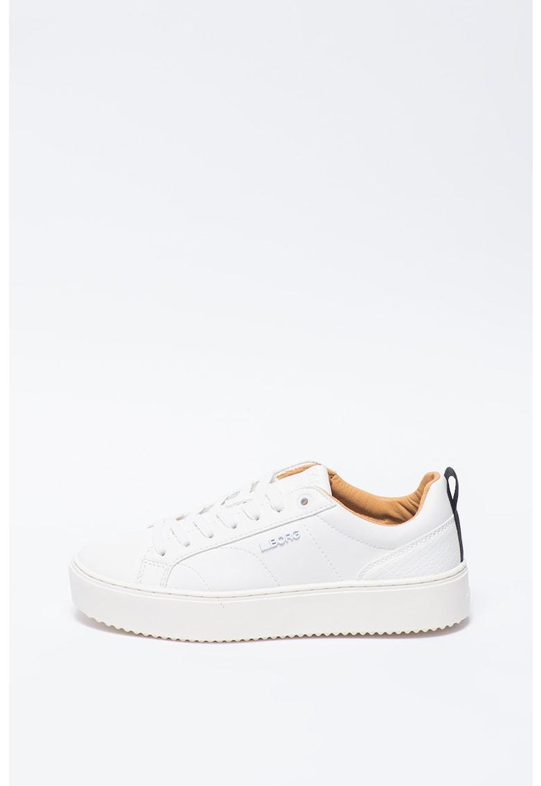 Pantofi sport flatform din piele ecologica