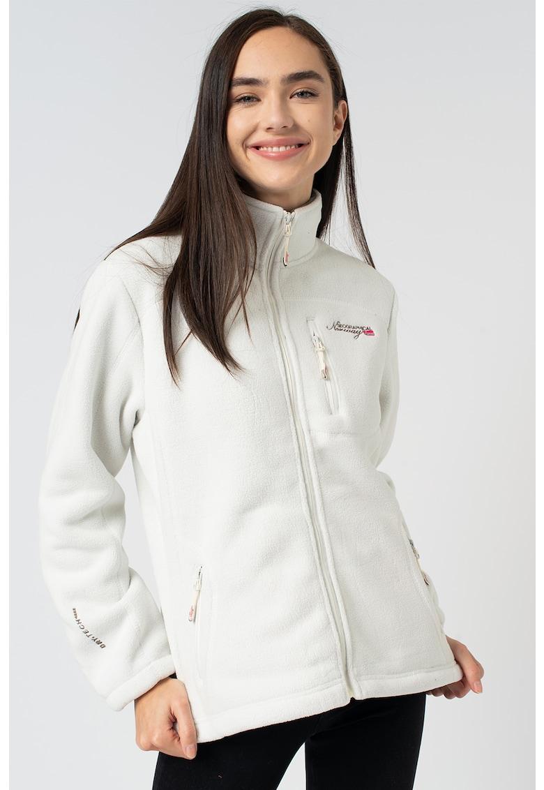 Bluza sport din fleece - cu fermoar Uzele imagine fashiondays.ro 2021