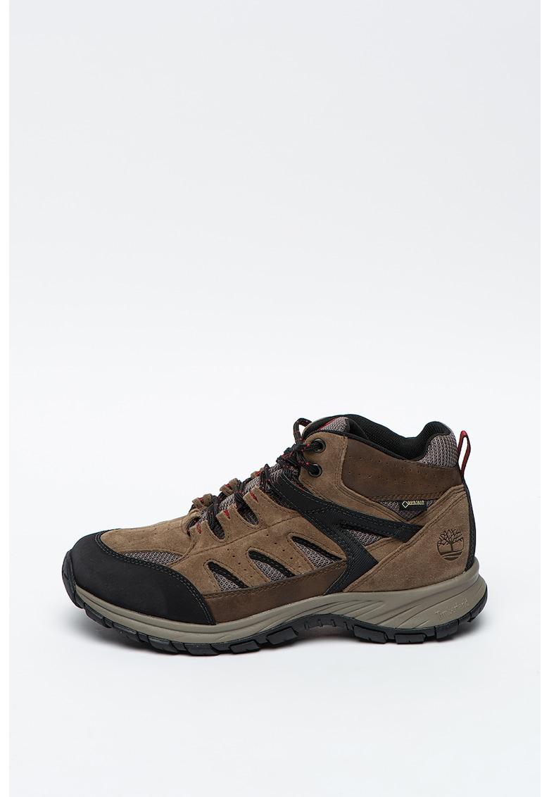 Pantofi cu insertii din piele intoarsa - pentru drumetii Sadler Pass