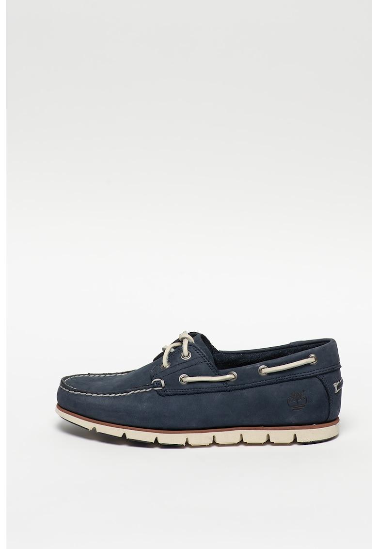 Pantofi boat de piele nabuc cu brant moale Tidelands imagine