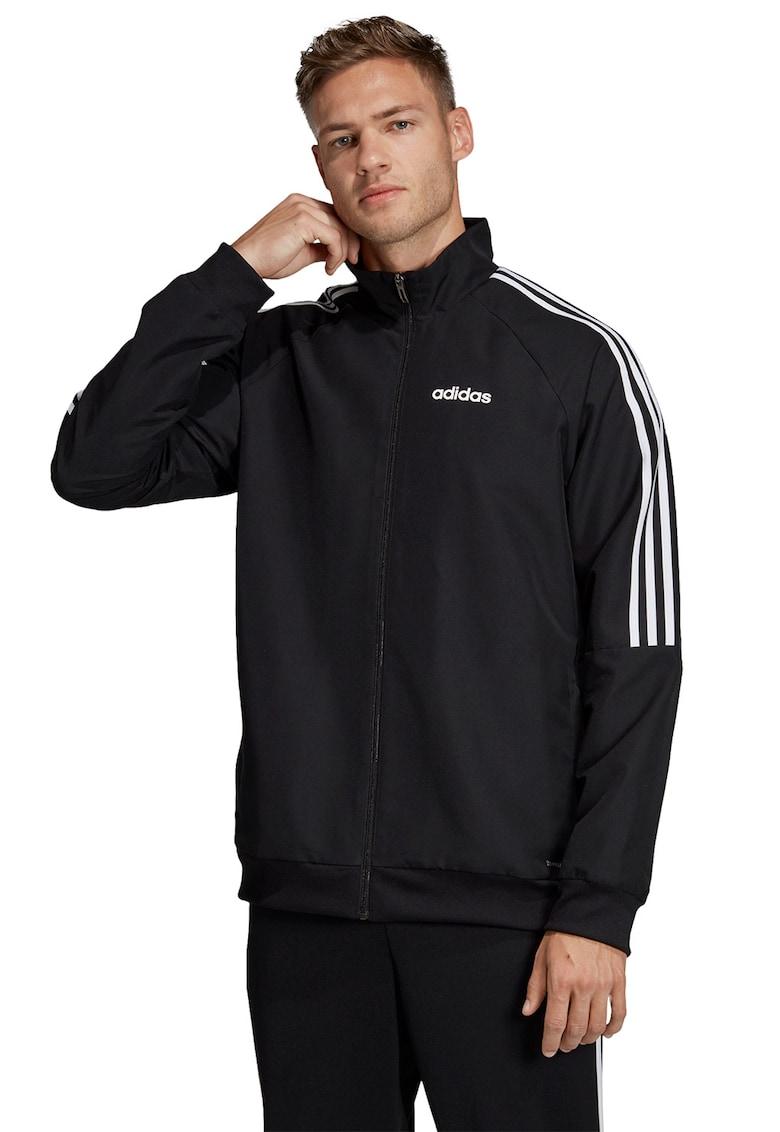 Bluza sport cu fermoar - logo si dungi imagine