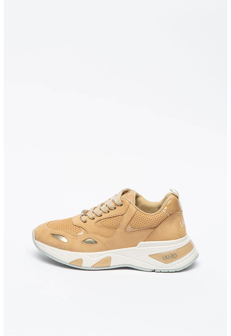 Pantofi sport wedge de piele nabuc Hoa