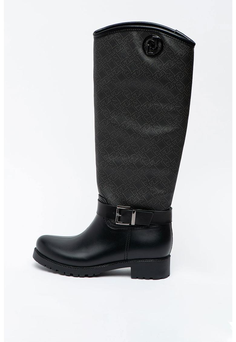 Cizme e piele ecologica - lungi pana la genunchi Nieve fashiondays.ro