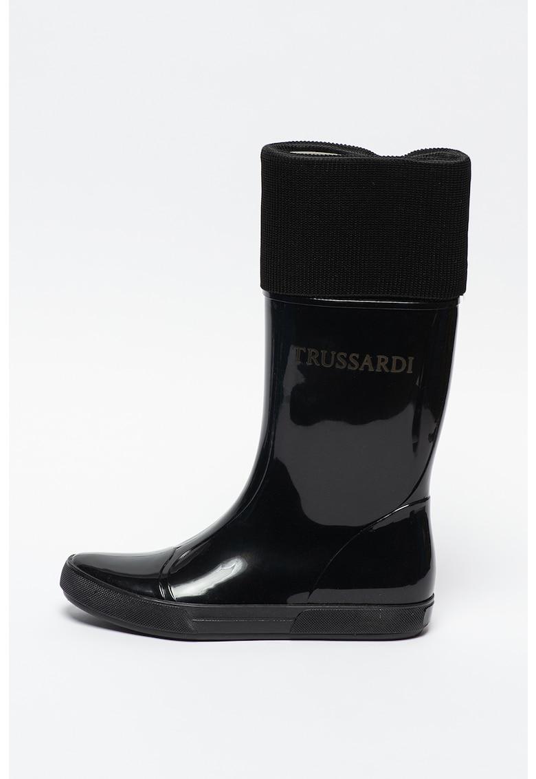 Cizme mid-calf de ploaie poza fashiondays