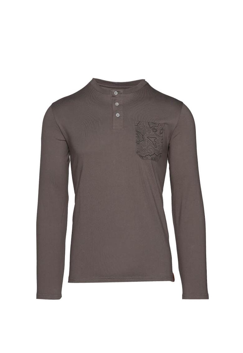 Bluza regular fit cu fenta cu nasturi Rodzer imagine