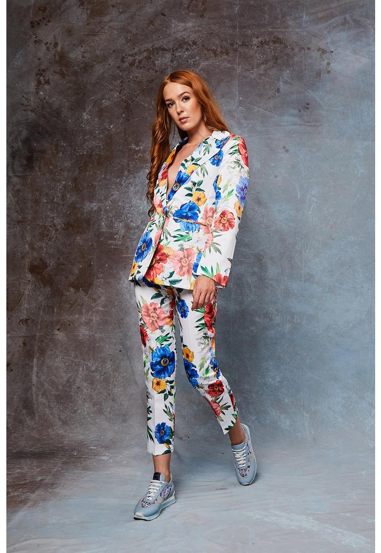 Sacou cu design floral si un nasture Deane imagine fashiondays.ro