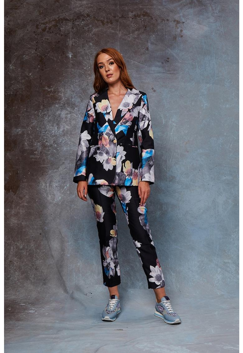 Pantaloni cu imprimeu floral Rika imagine fashiondays.ro