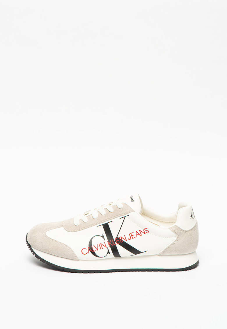 Pantofi sport de piele ecologica si material textil Joele imagine promotie