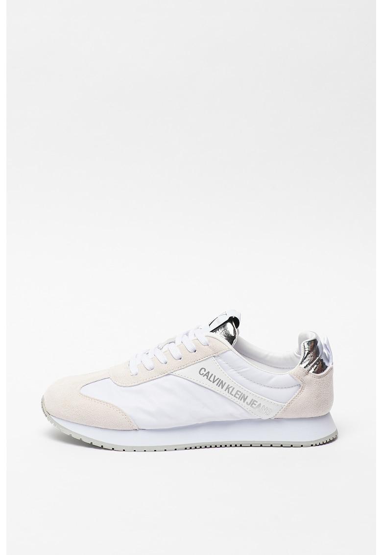 Pantofi sport de piele intoarsa si material textil Jerod