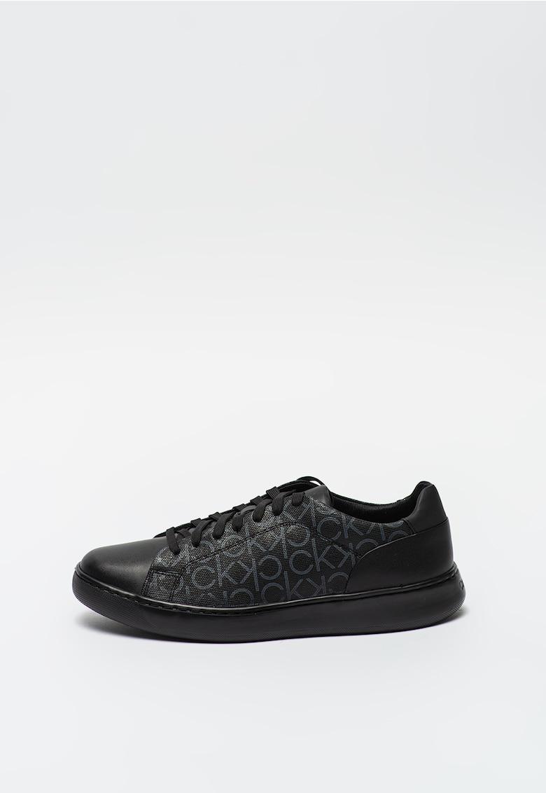 Pantofi sport de piele ecologica cu logo Falconi imagine