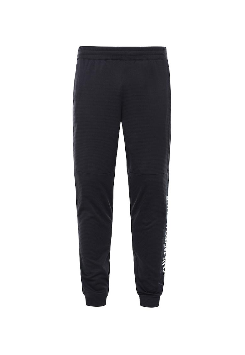 Pantaloni sport cu logo si talie elastica Train N