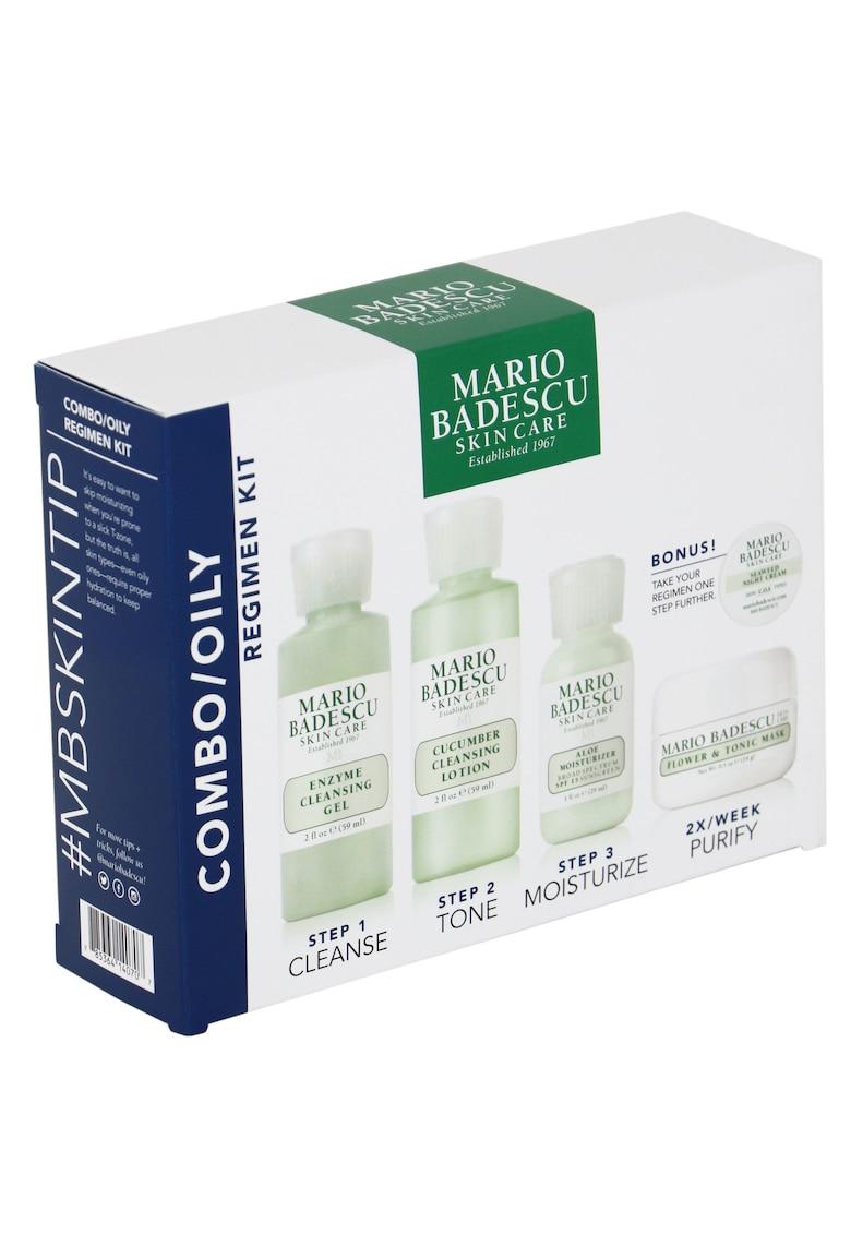 Mario Badescu Kit Mario Badeascu Combo/Oily pentru ten gras/mixt: Gel de curatare - 59 ml + Lotiune de curatare - 59 ml + Crema de fata SPF 15 - 29 ml + Masca de fata - 14 g + Crema de noapte