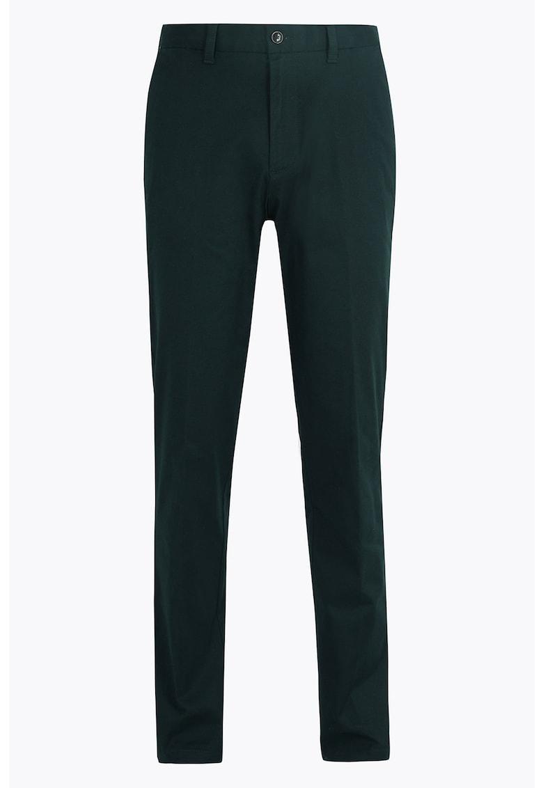 Pantaloni chino elastici regular fit imagine fashiondays.ro