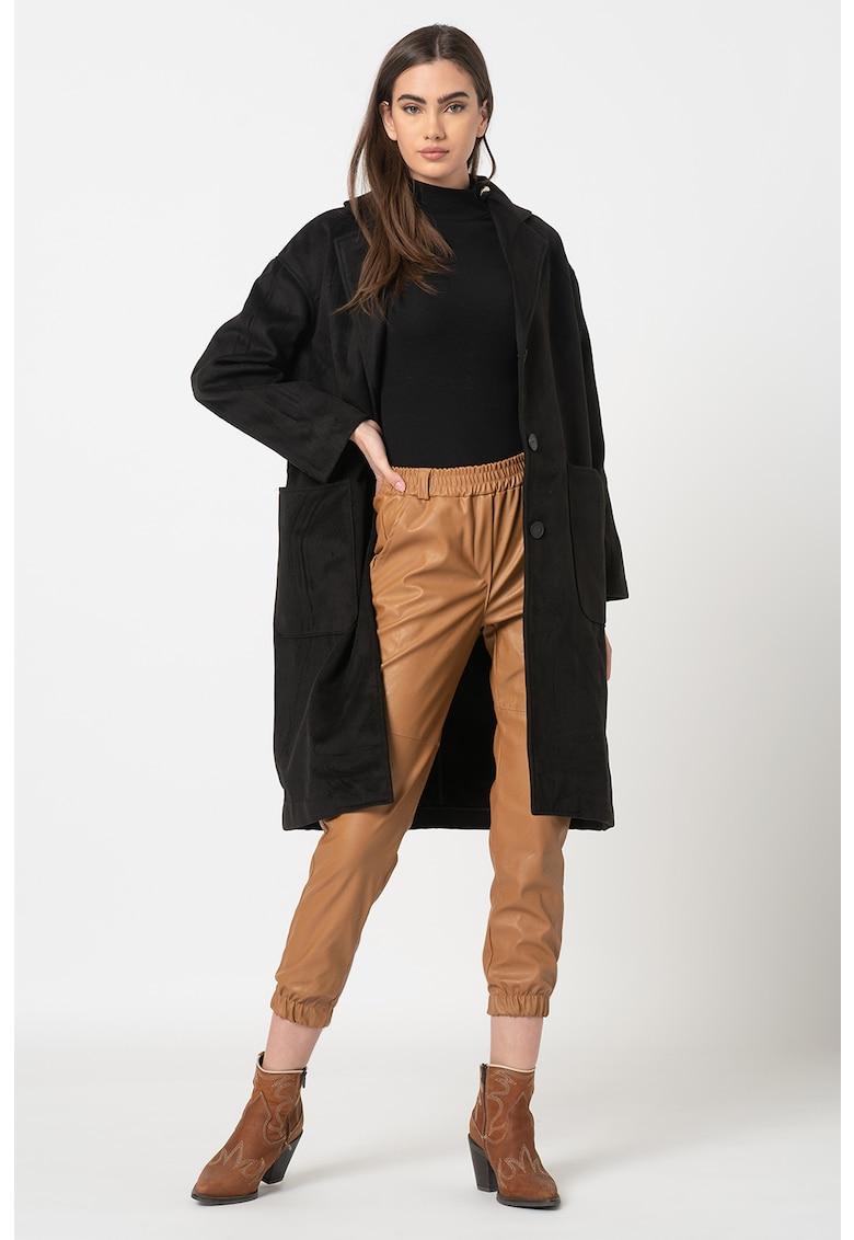 Palton cu buzunare aplicate Denise