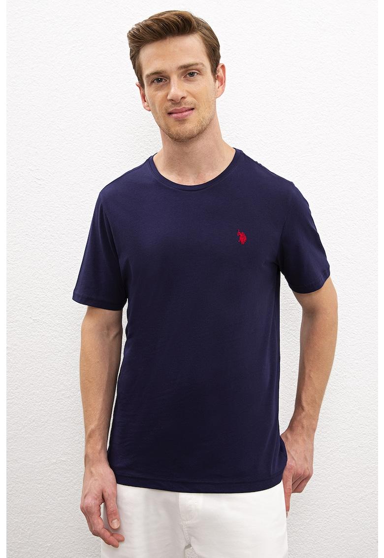 Tricou regular fit cu logo discret