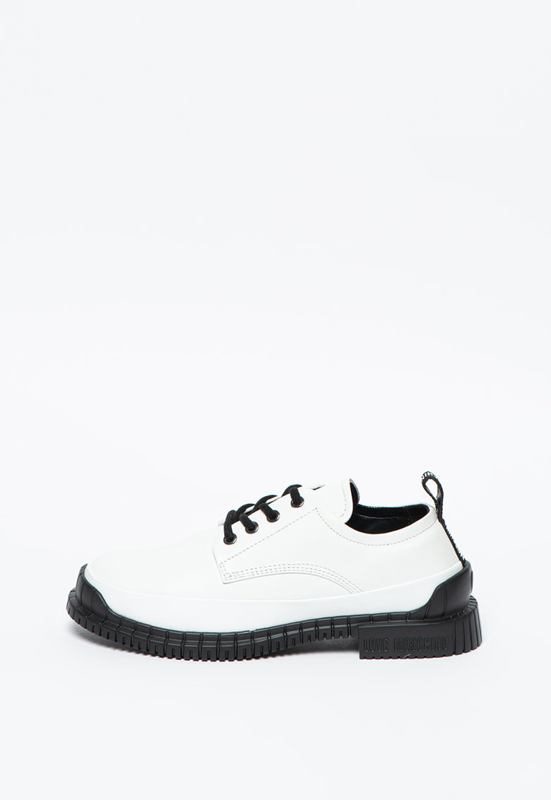 Pantofi cu sireturi si piele Love Moschino fashiondays.ro