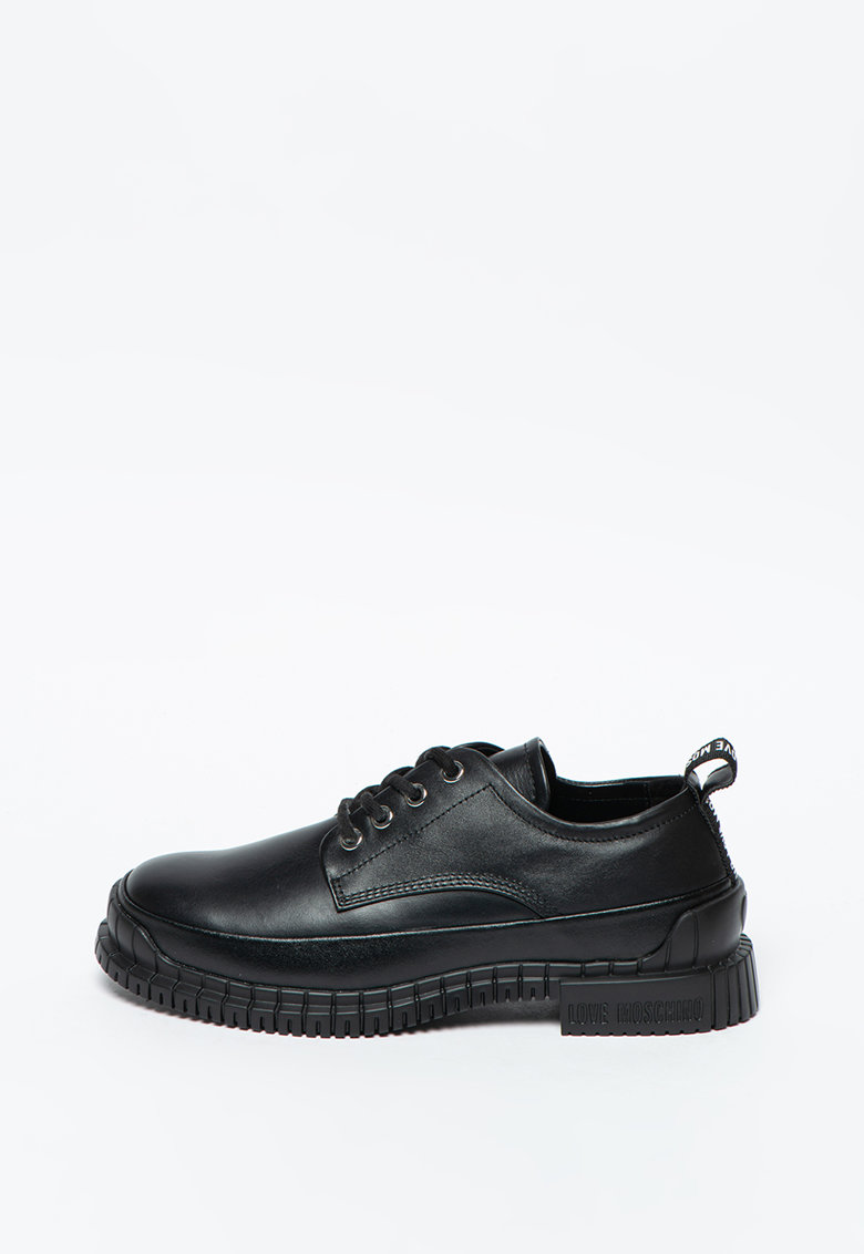 Pantofi cu sireturi si piele imagine promotie