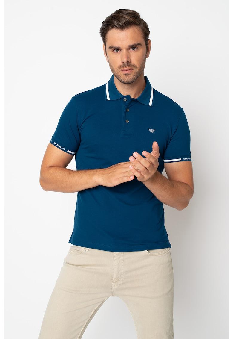 Tricou polo cu detalii contrastante Bărbați imagine