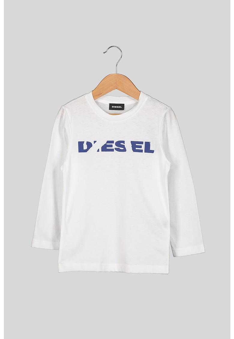 Bluza de bumbac cu logo imagine promotie