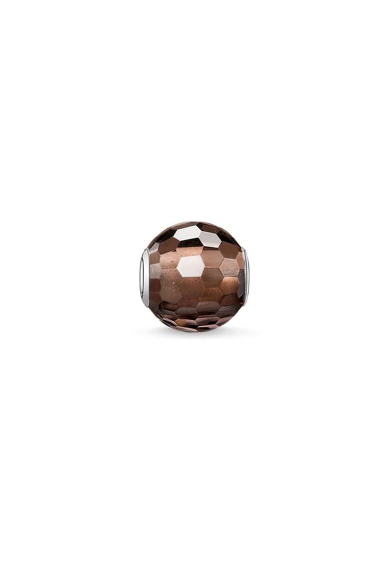 Talisman din argint veritabil cu margele si pietre quartz