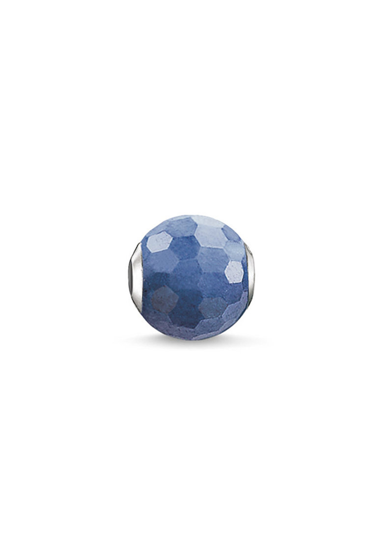 Talisman tip margea din argint veritabil decorat cu quartz albastru