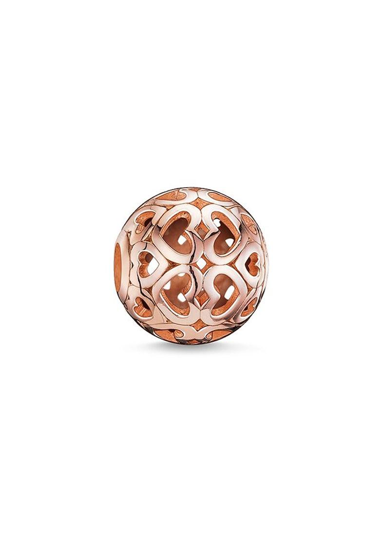 Talisman tip margea din argint veritabil placat cu aur rose de 18K imagine fashiondays.ro