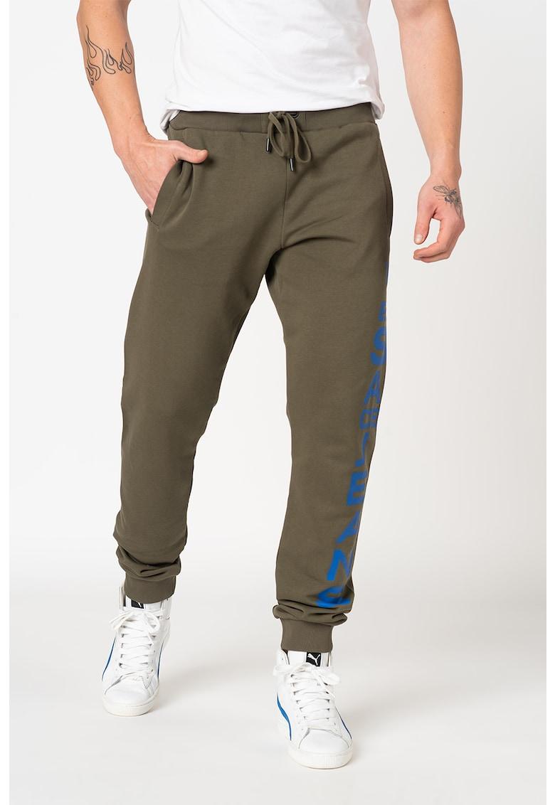 Pantaloni sport cu imprimeu logo imagine