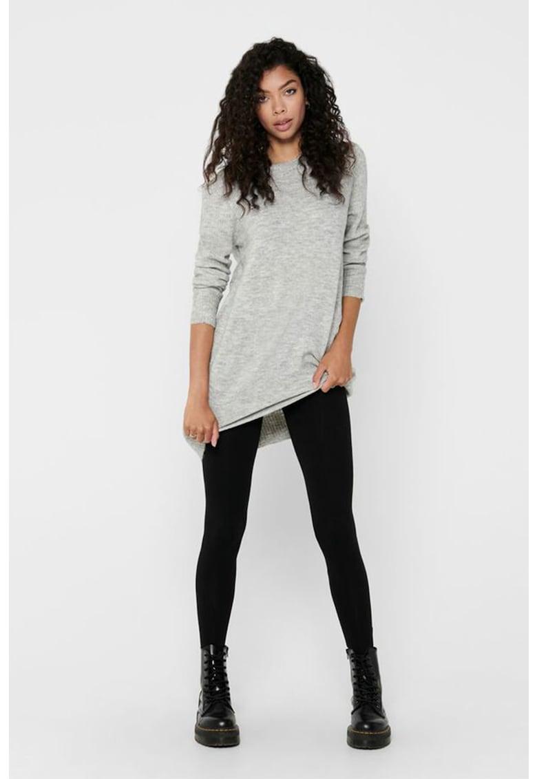 Rochie tip pulover cu terminatii striate imagine promotie