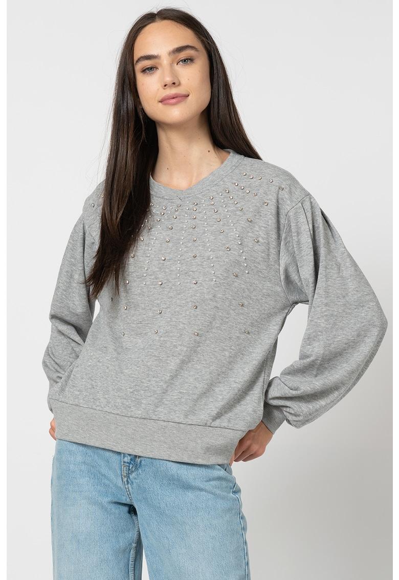 Bluza sport decorata cu strasuri si margele Denise