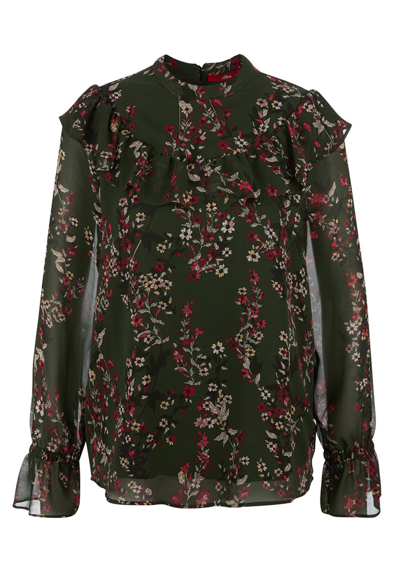 Bluza vaporoasa cu model floral imagine