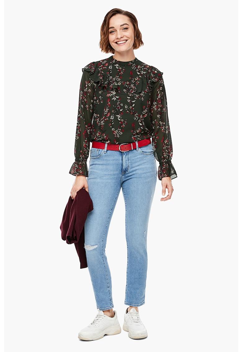 Bluza vaporoasa cu model floral s.Oliver fashiondays.ro