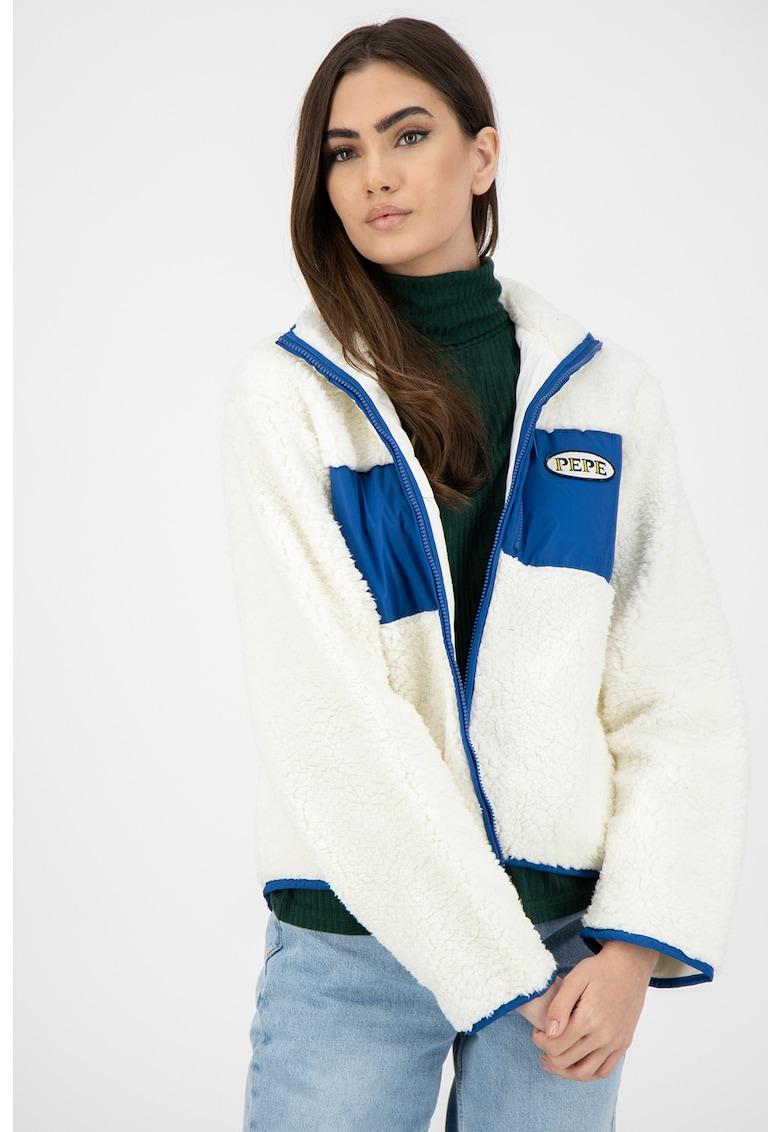 Bluza sport de blana shealing sintetica - cu fermoar Nerea imagine