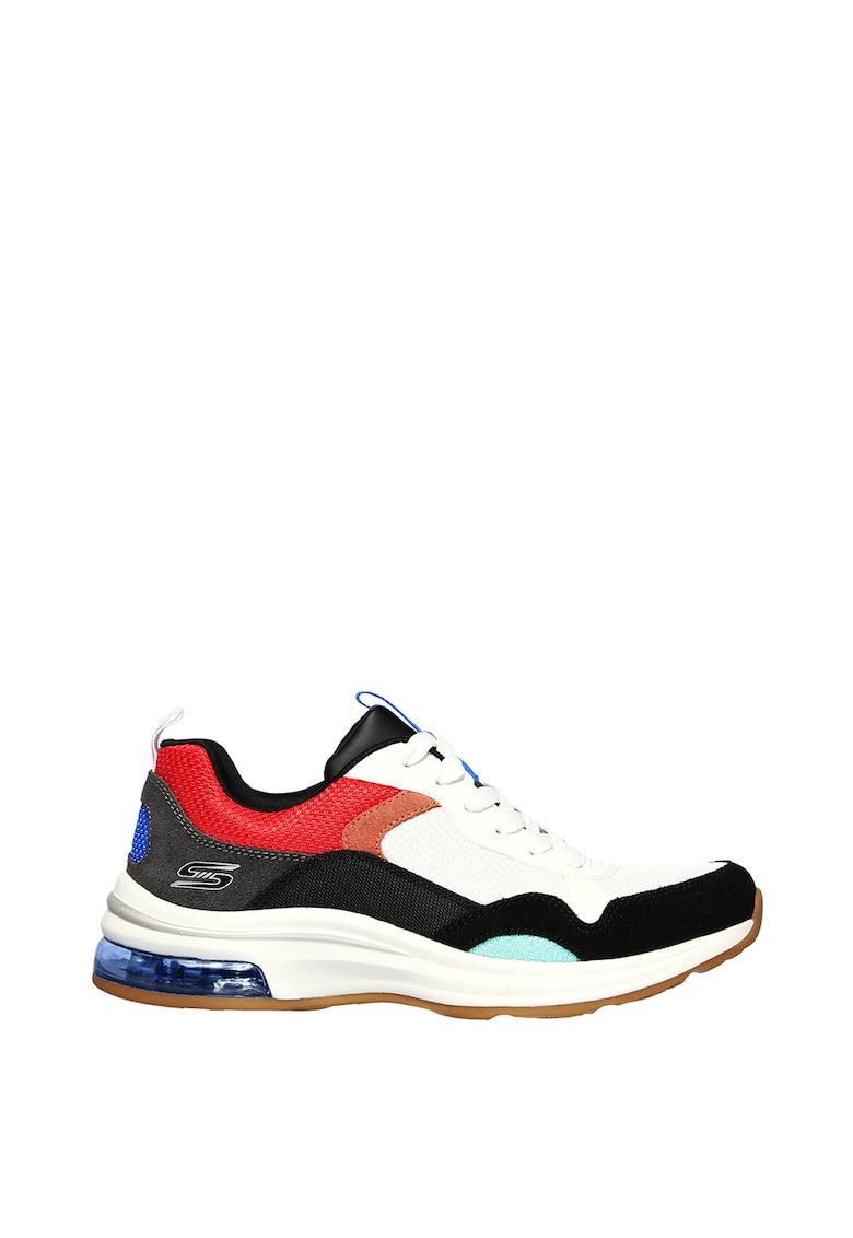 Pantofi sport din plasa cu garnituri din piele intoarsa Bobs Pulse Air Sunrise Song