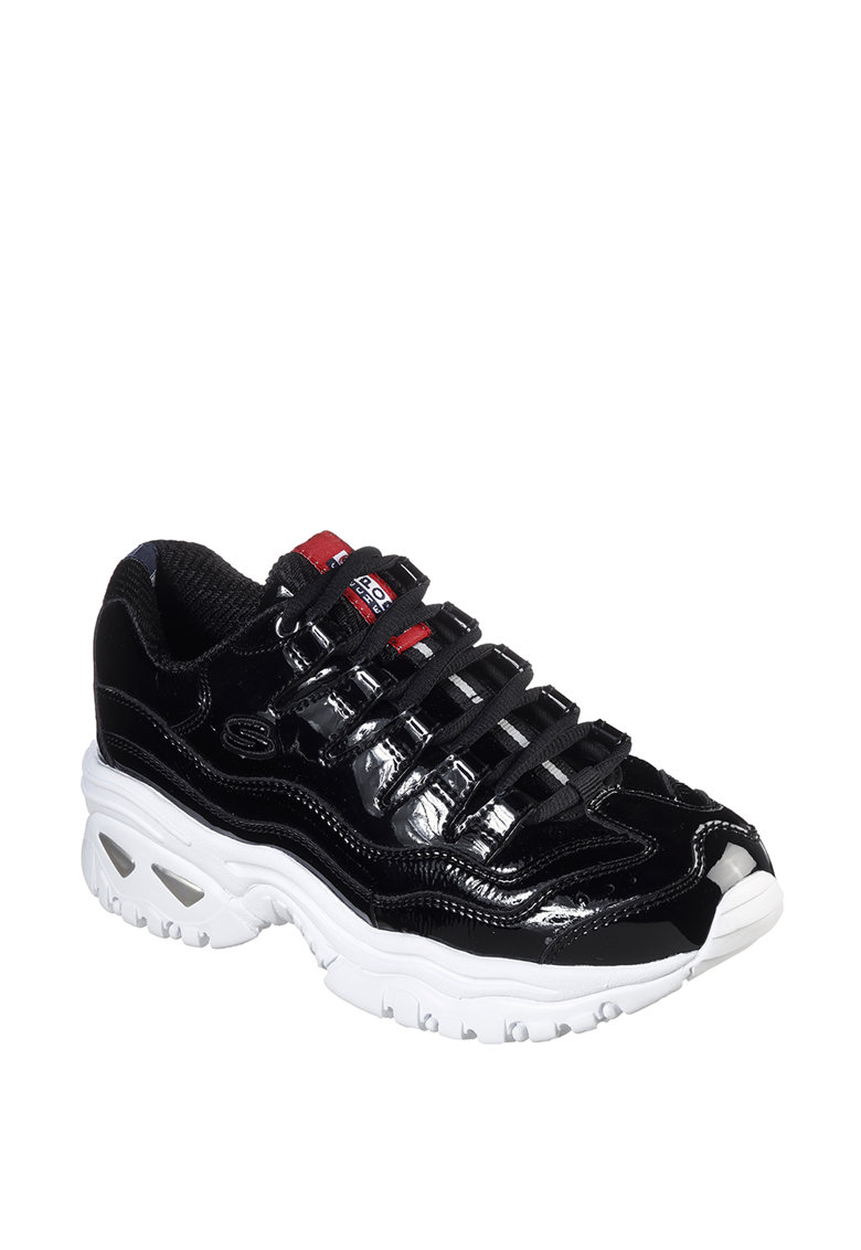 Pantofi sport wedge cu garnituri de piele lacuita Energy Thriller Knight imagine